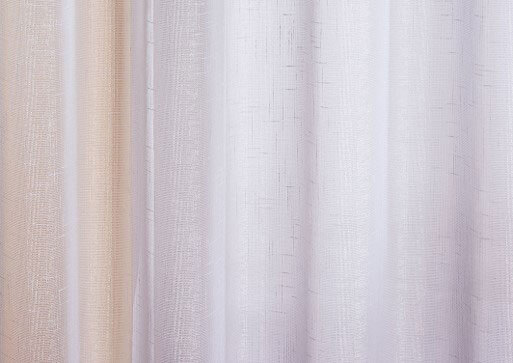 White Marrakesh voile panel close up