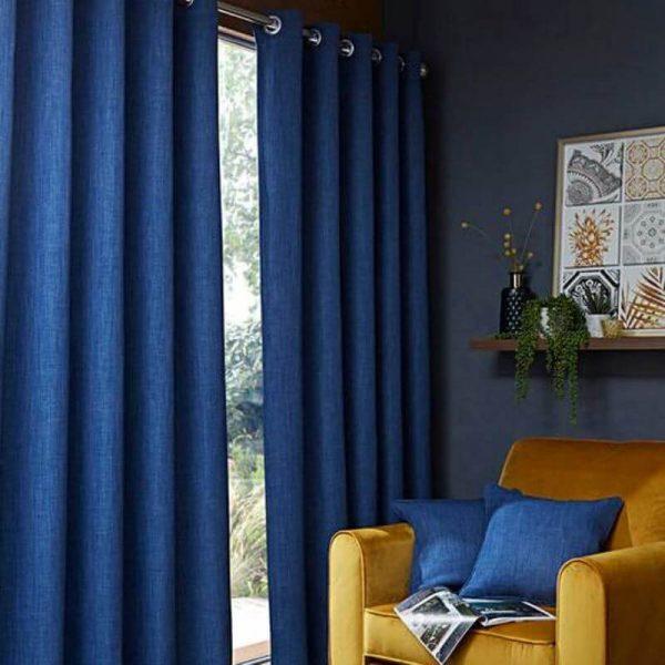 curtains hugo navy
