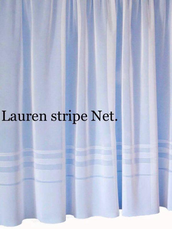 lauren stripe net curtain