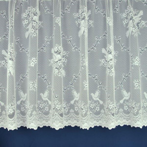 love birds net curtain