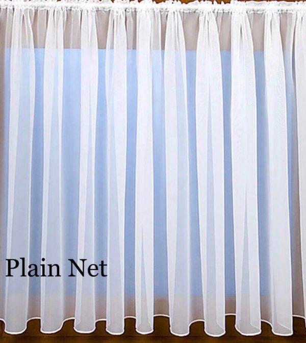 plain net curtain
